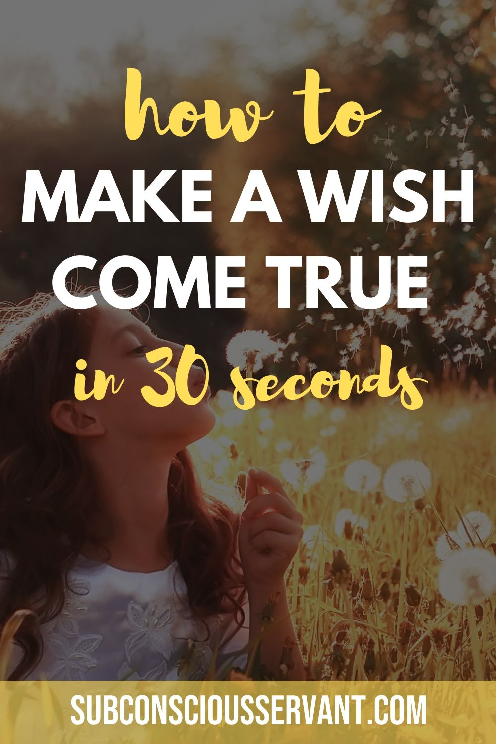 How To Make A Wish Come True In 30 Seconds