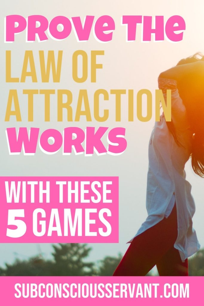If you want to proof the law of attraction works then give these manifestation games a go. These games are simple and designed to prove the law of attraction works. Happy manifesting! #SubconsciousServant #LawOfAttraction #LOA #Manifesting #Manifestation #IntentionalLiving #Spirituality