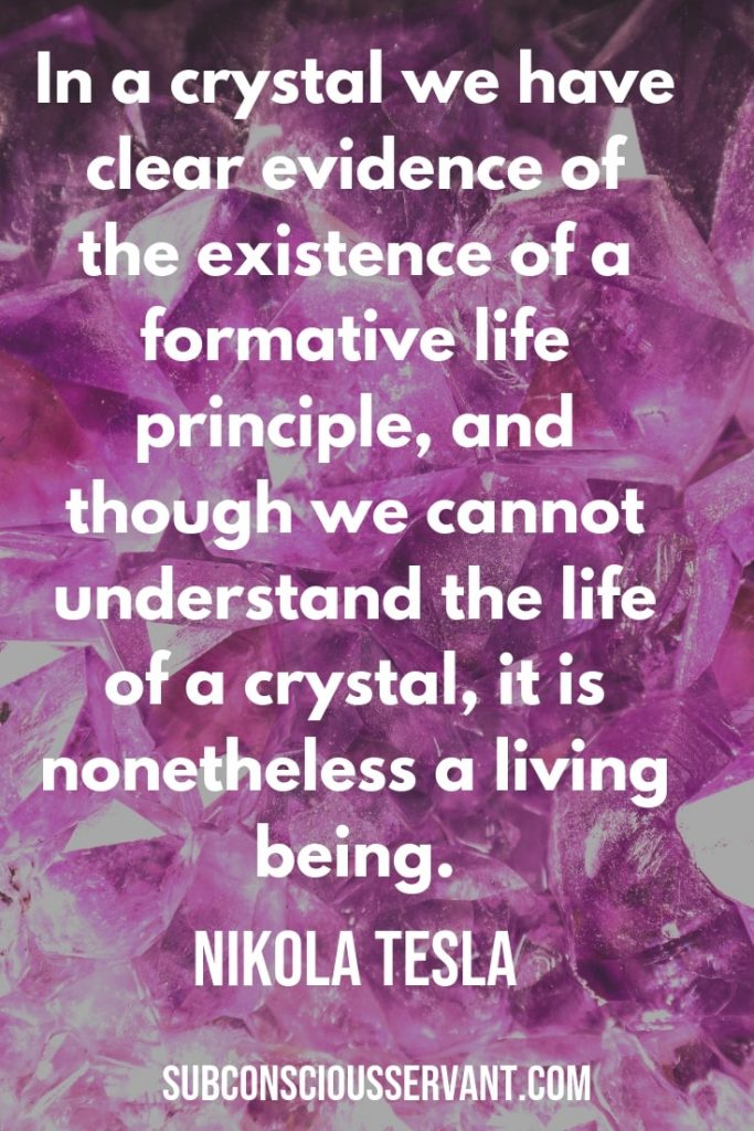 Crystals for Healing Pain post quote