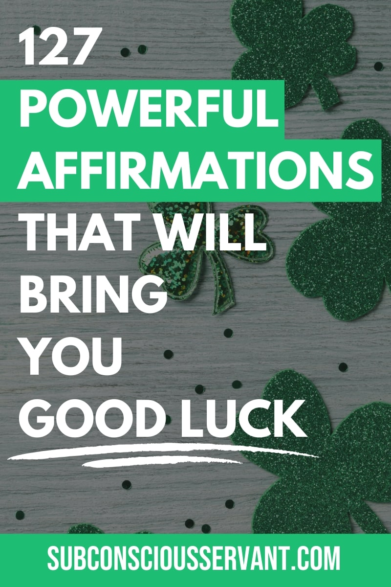 If you want to create your own luck, then these good luck affirmations will help bring good fortune into your life. Here they are... #GoodLuck #Affirmations #LawOfAttraction #Manifesting