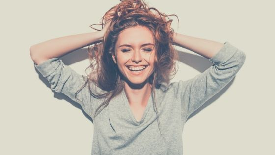 woman extrovert smiling