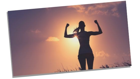 image of woman who looks strong and motivated