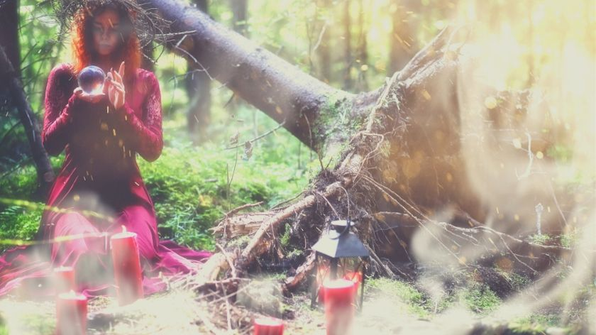 woman doing an intention setting ritual