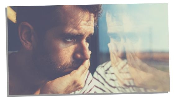 Empath man feeling fatigue and burnour