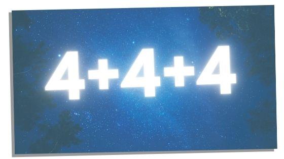 4+4+4 broken down