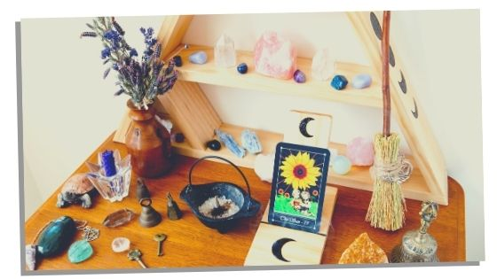 Having a home altar for good energy