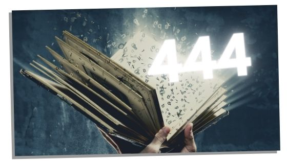 religious book showing 444