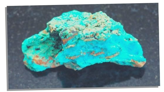 Photo of chrysocolla to help with manifesting love and romance
