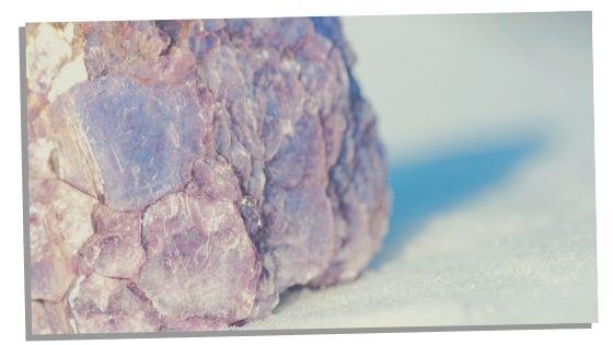 Lepidolite crystal for empath grounding