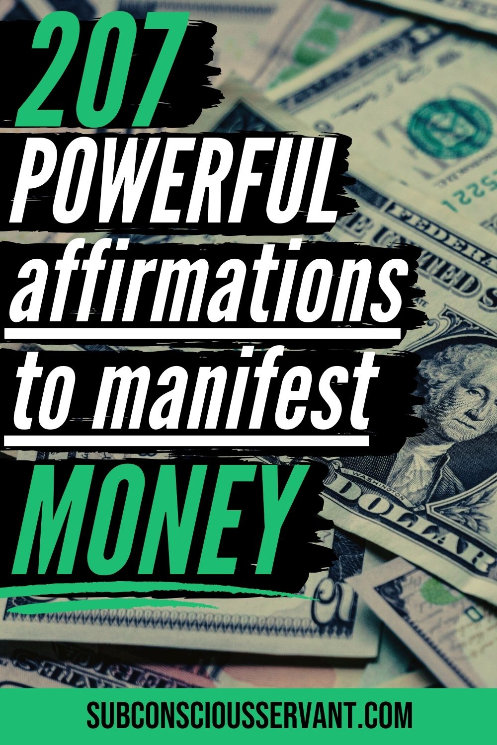 207 POWERFUL Affirmations For Money (Including Shareable Images)