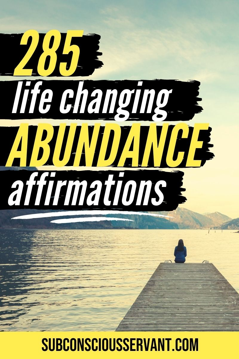 285 Affirmations On Abundance (With Sharable Images)
