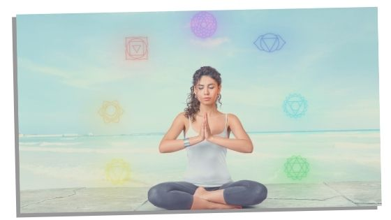 woman with balanced chakra