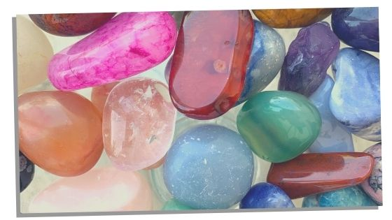 multiple chakra balancing stones and crystals