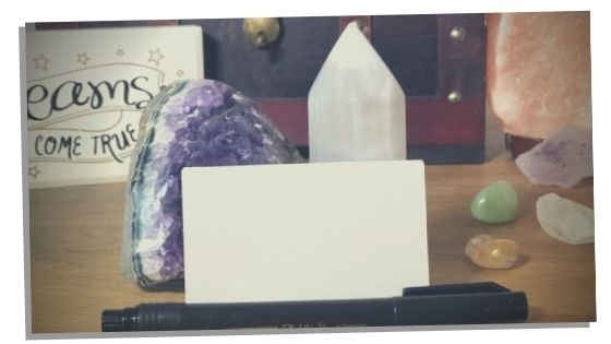 Picture of the items you need for a manifestation box