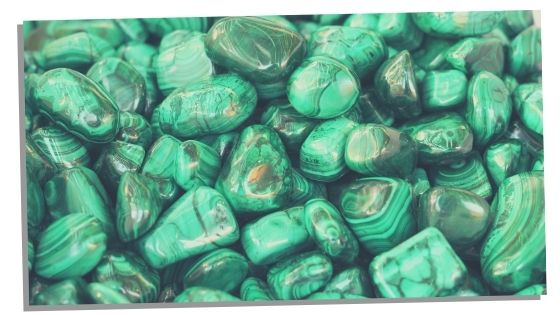 focus stone for study Malachite