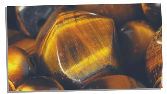 Tiger's Eye crystal for study focus