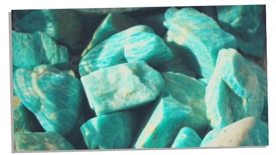 Picture of Amazonite to help heart chakra healing and balance