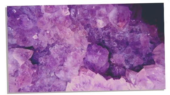 Crown chakra crystals Amethyst