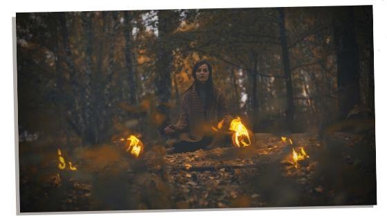 woman doing a shaman initiation