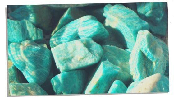 Amazonite Gemstones used for mental clarity