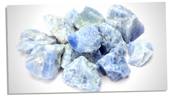 Picture of Blue Calcite, a throat chakra stone