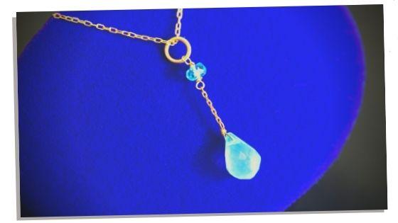 using Blue Apatite as jewellery
