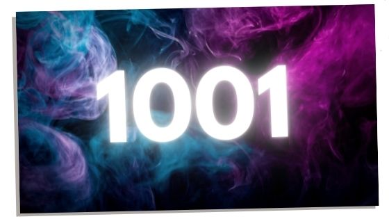 1001 on colored smoke