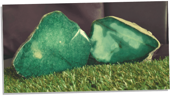 Green Jade crystal for abundance