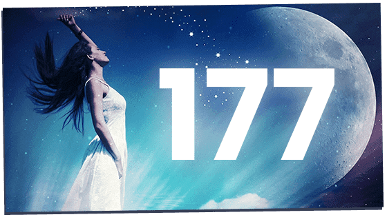 Woman standing up against 177