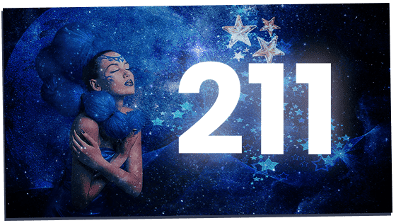Angel number 211 in the stars