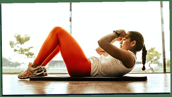 gamma woman doing sit-ups