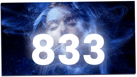 833 over woman's face