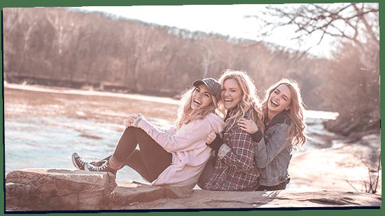 Women showing qualities of a good friend