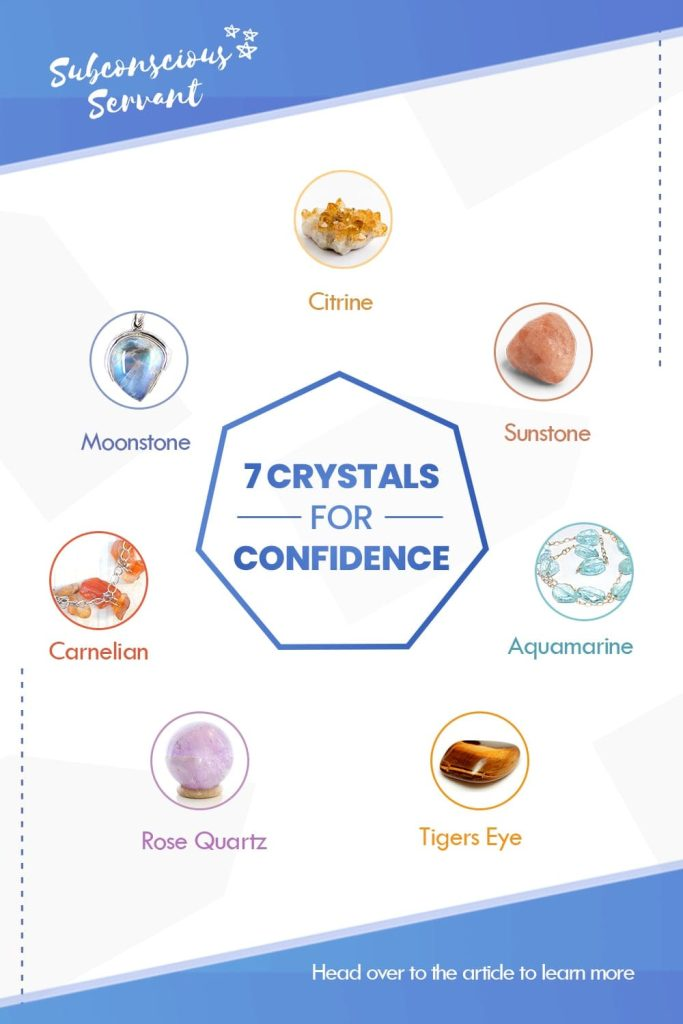 crystals for confidence infographic