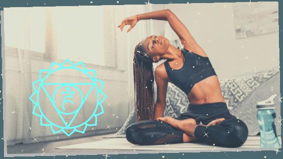 woman practicing healing throat chakra affirmations