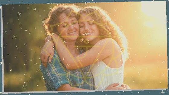 two people with Solar Plexus Chakra symbol