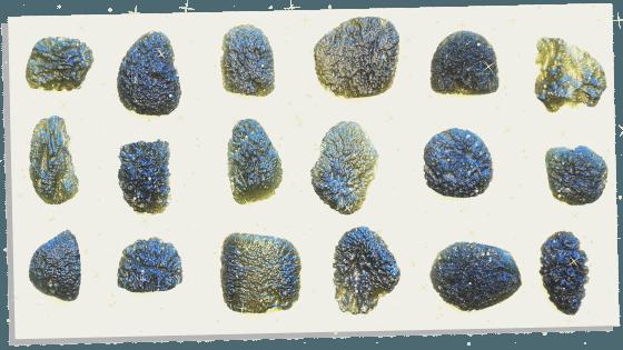 Multi pieces of Moldavite