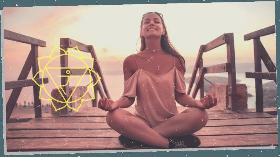 a woman rebalancing a blocked solar plexus chakra