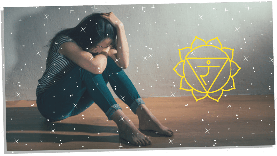 woman with a blocked solar plexus chakra
