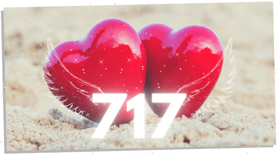 hearts with twin flame number 717