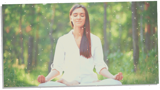 woman following a Reiki principle by being not angry.