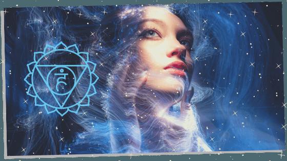 chakra with blue aura