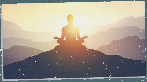 meditation with orange calcite