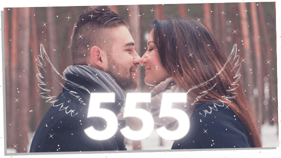 angel number 555 and twin flames kissing