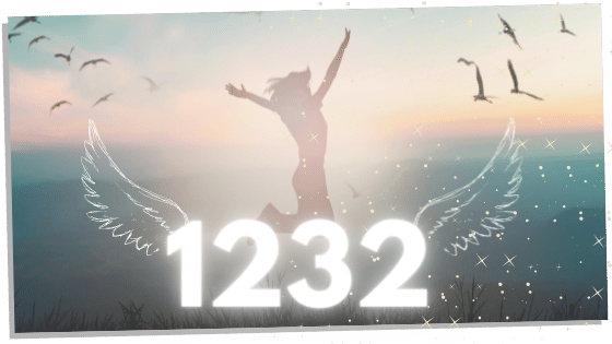 angel number 1232 and woman jumping